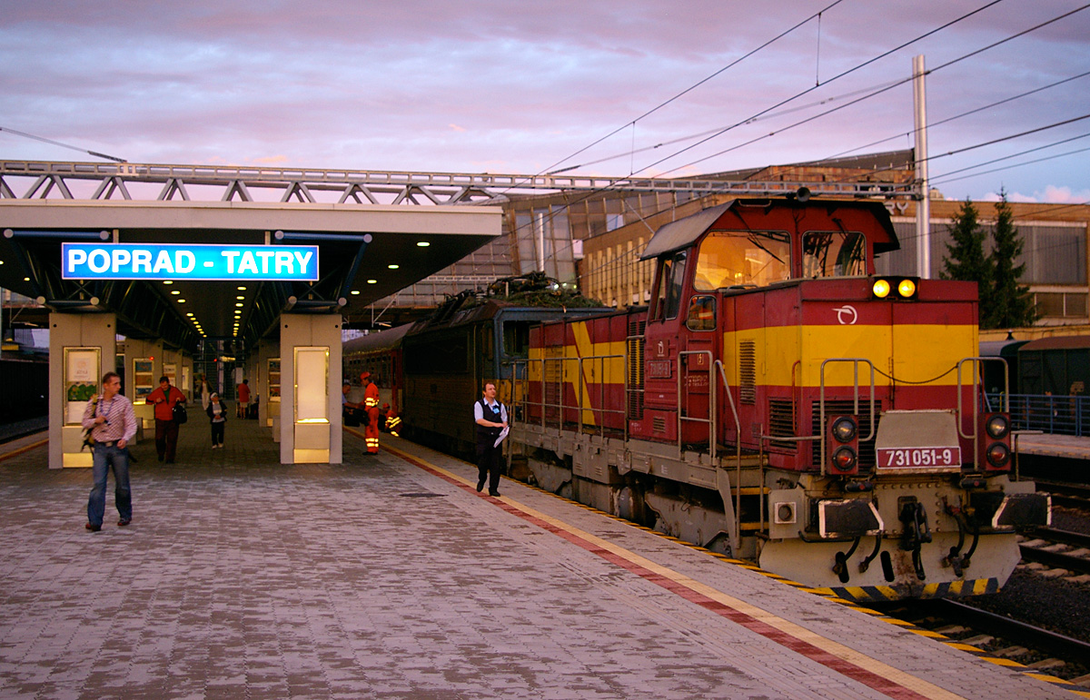 ZSSK train at Poprad-Tatry