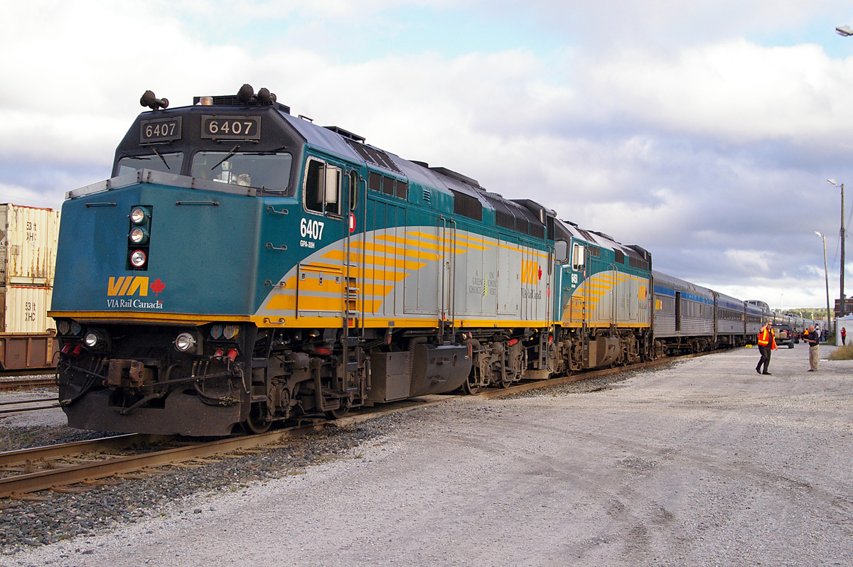 VIA Rail locomotives on the Canadian