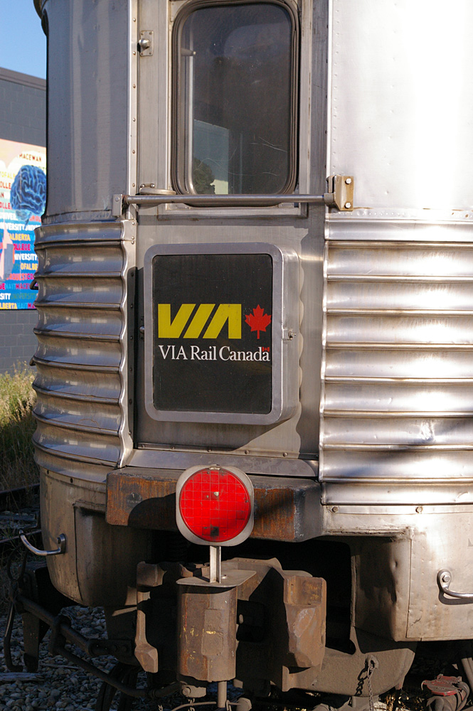 VIA Rail Canada sign on Park car