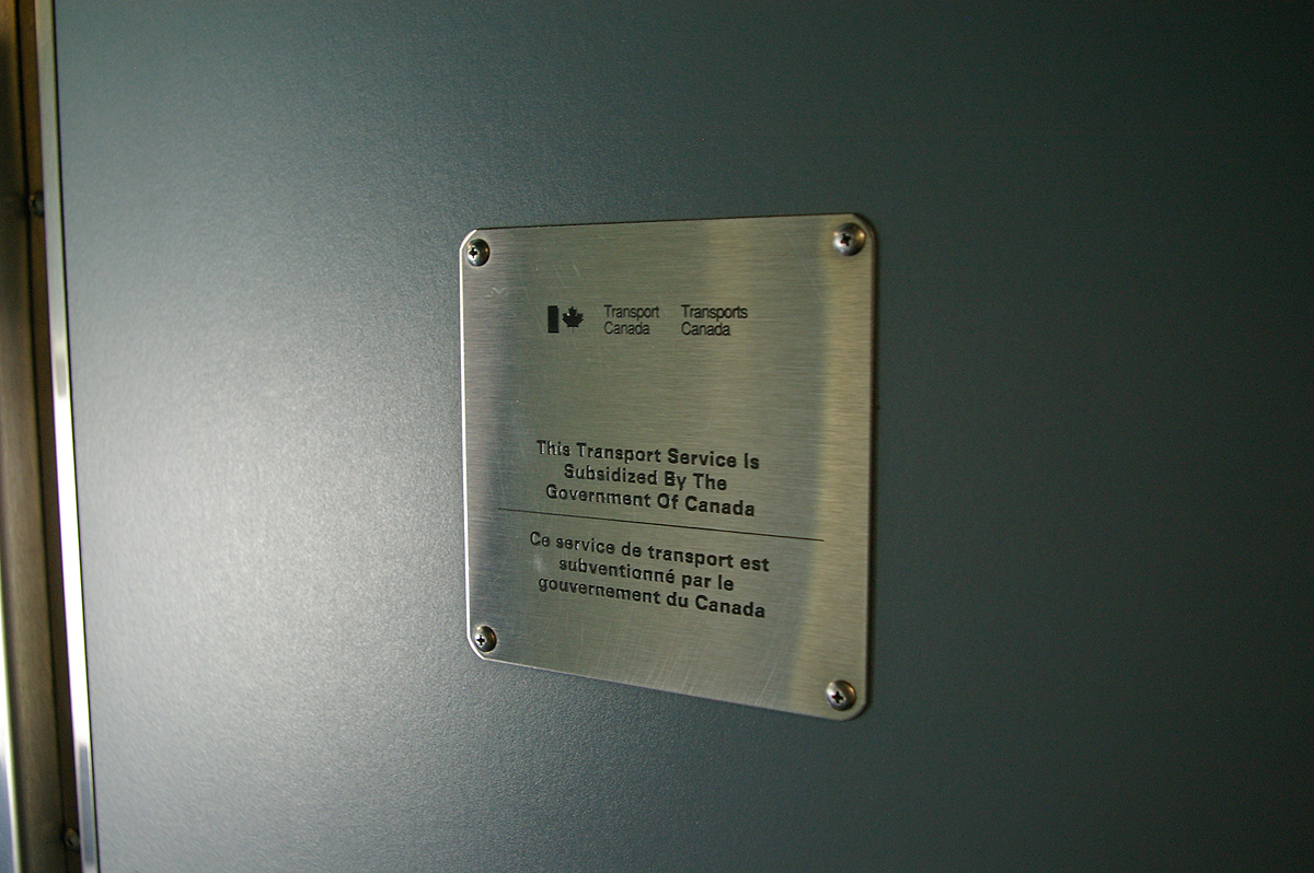 Transport Canada info plate