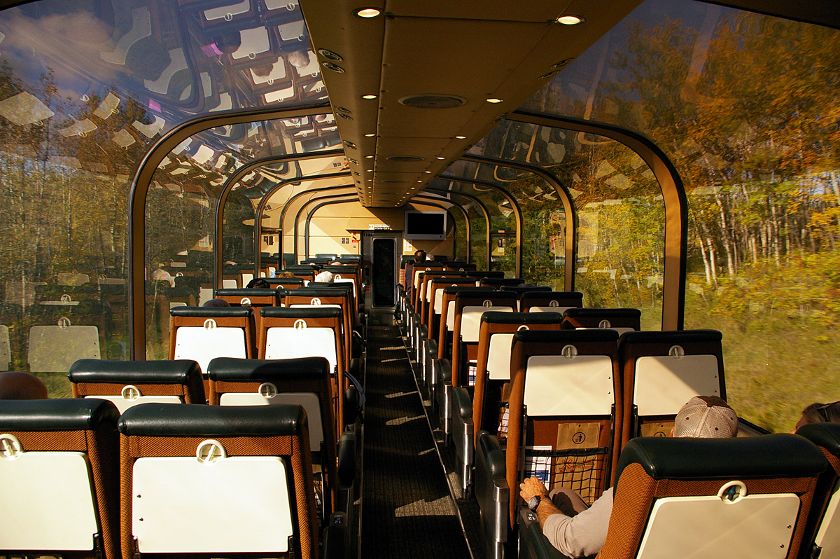 Inside the VIA Panorama car