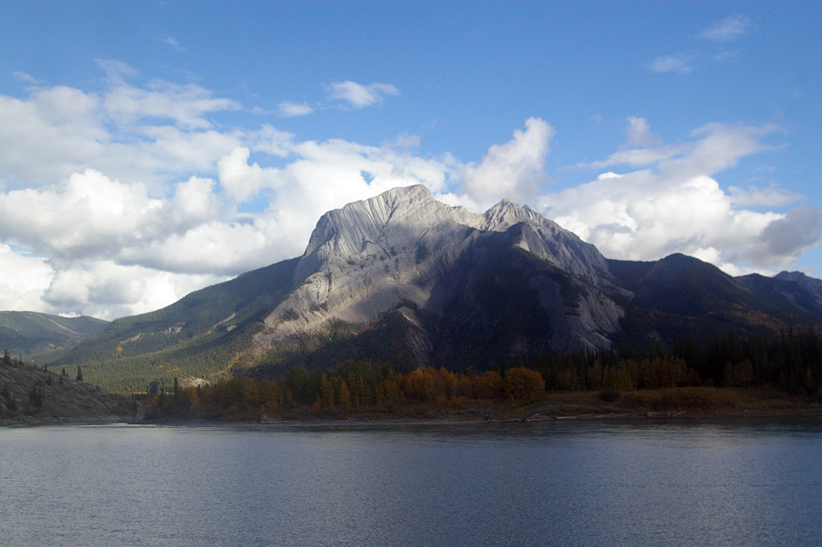 View from the train in the Canadian Rockies