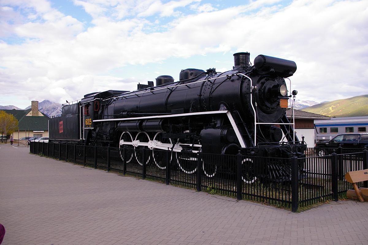 CNR 6015 at Jasper, Alberta