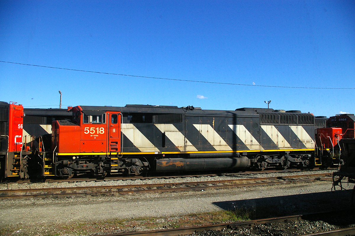 CN freight locomotives near Vancouver