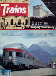 Cover of Trains magazine, August 1978