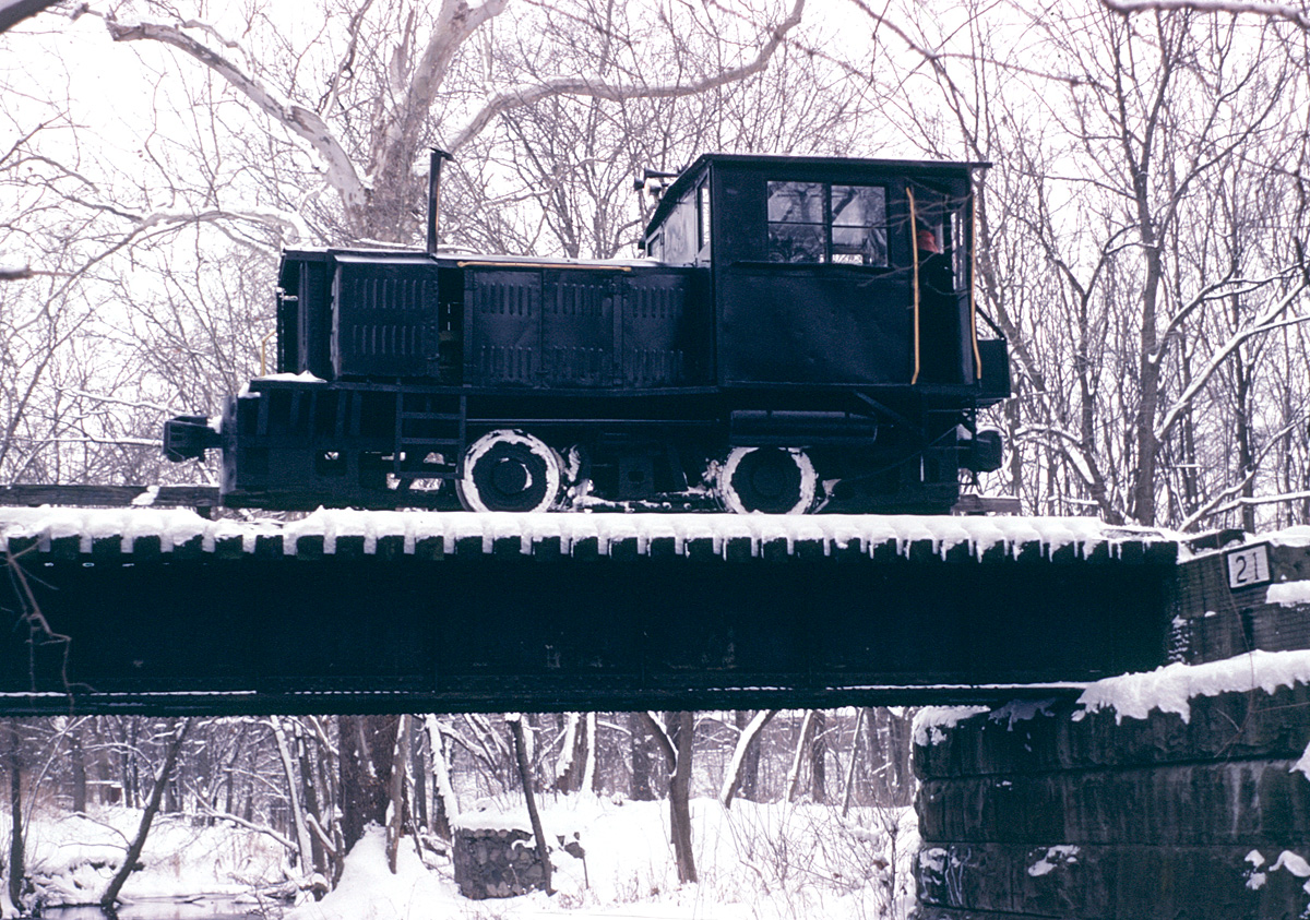 Southern Michigan Railroad Plymouth in the snow