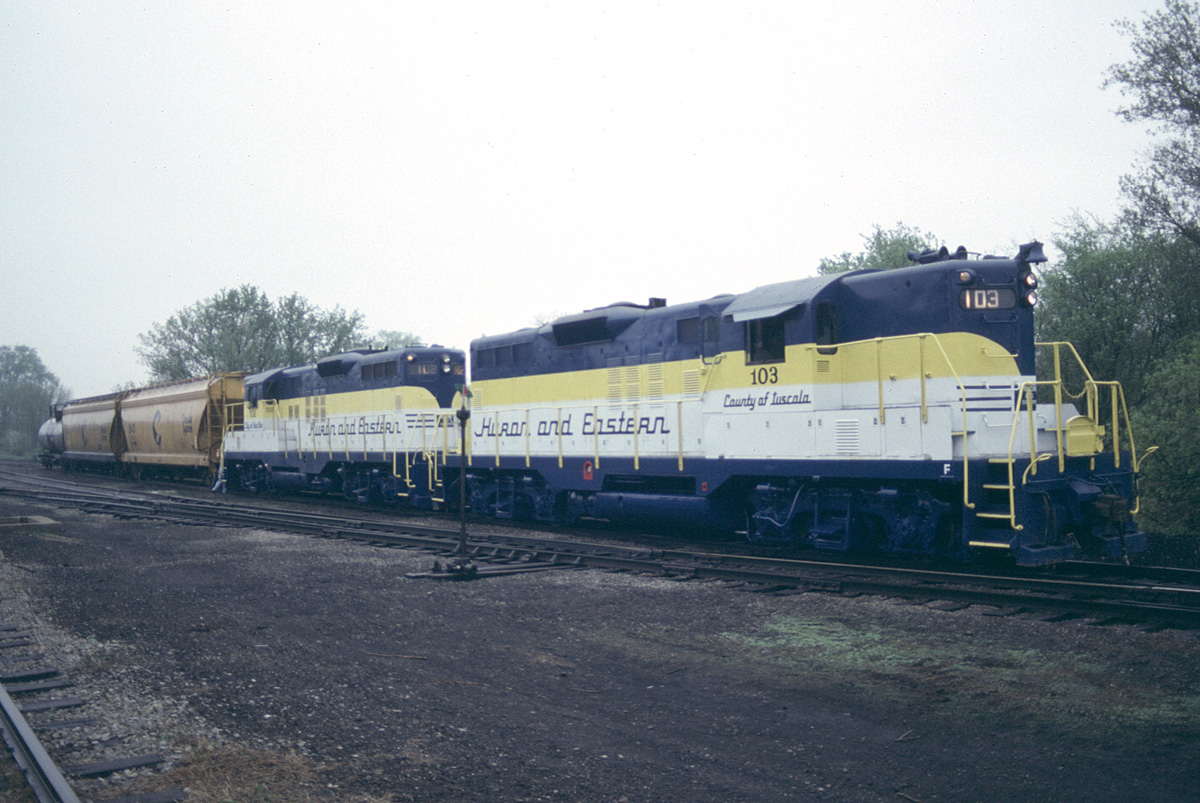 HESR locomotives in the yard