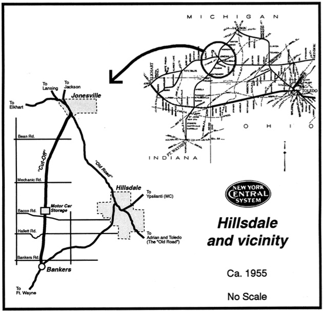 A maps of the NYC lines in southeast Michigan
