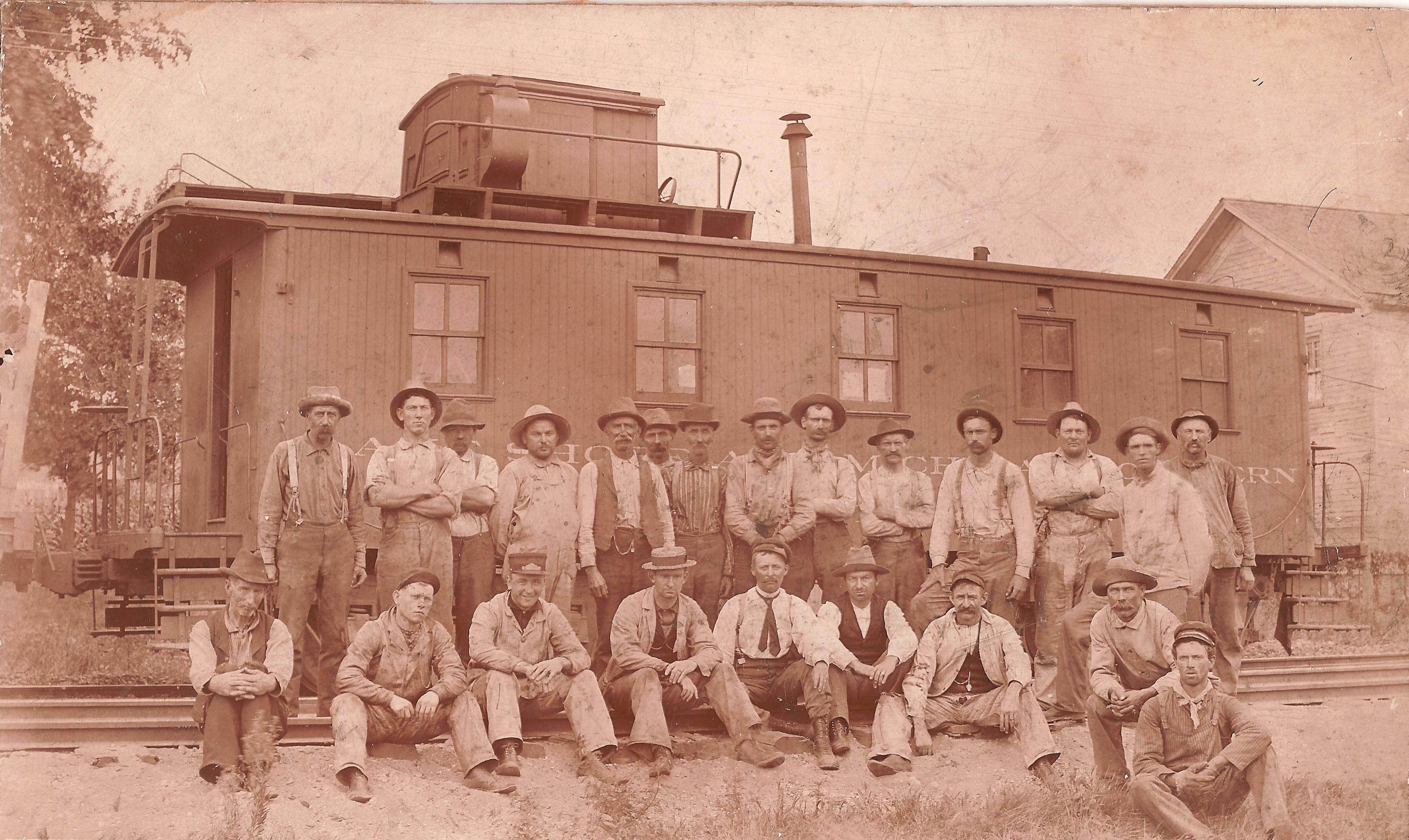 Hillsdale railway workers 1908