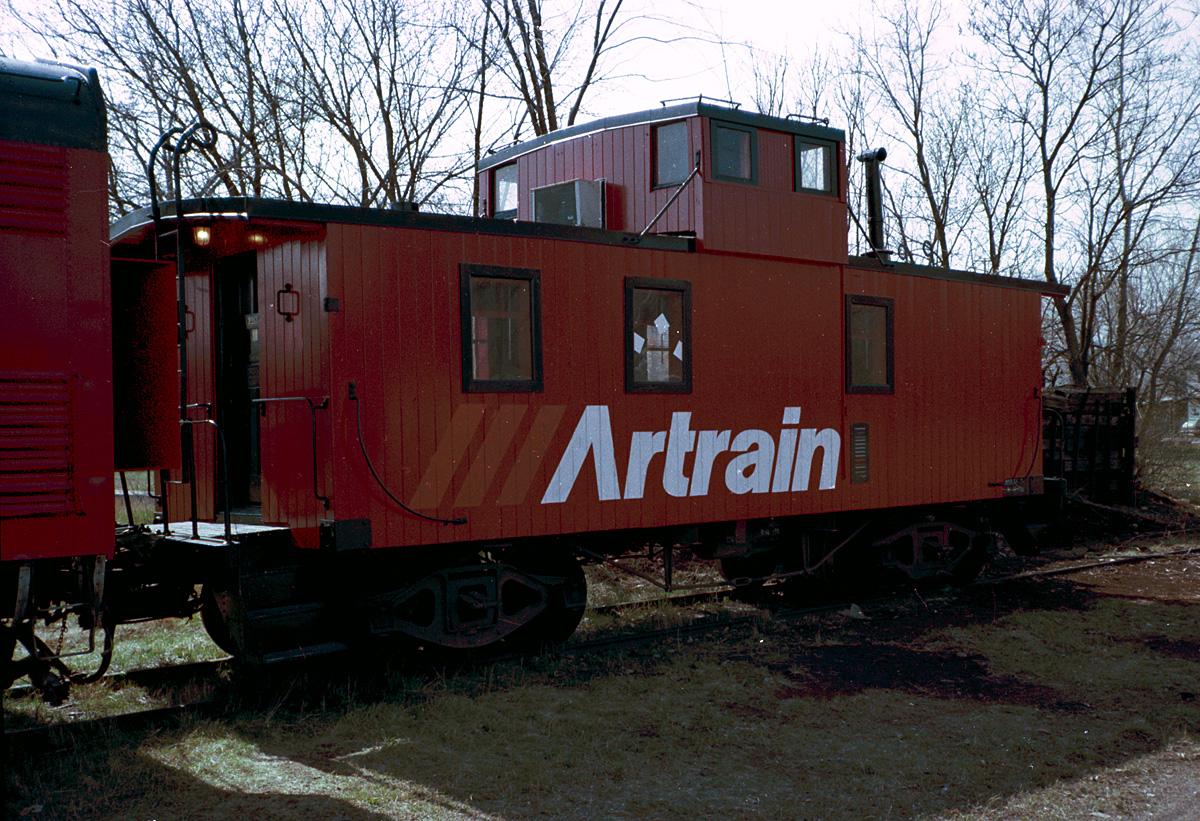 Artrain caboose in Tecumseh