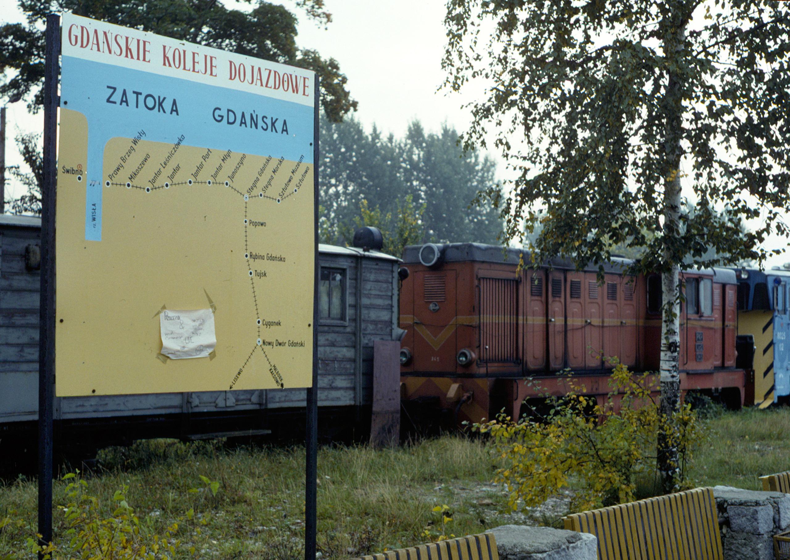 Map at Nowy Dwór Gdański