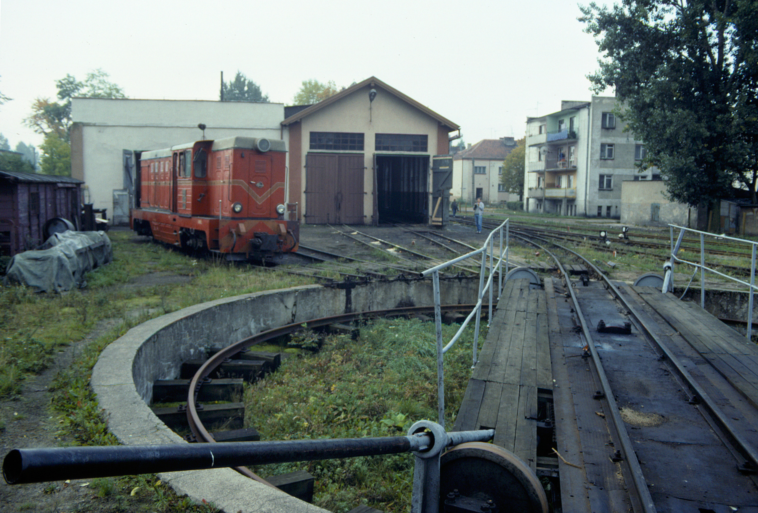 Turntable and repair shops at Nowy Dwór Gdański
