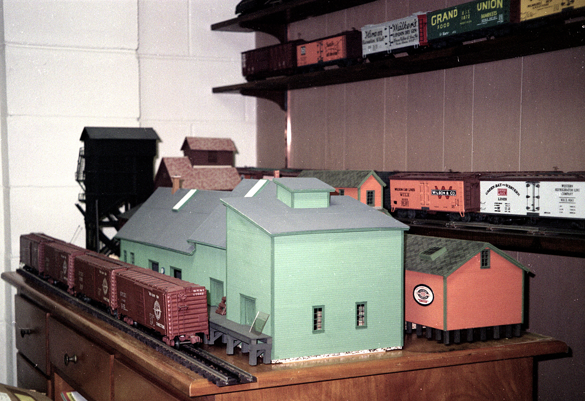 Some of Ed's scratch-built buildings