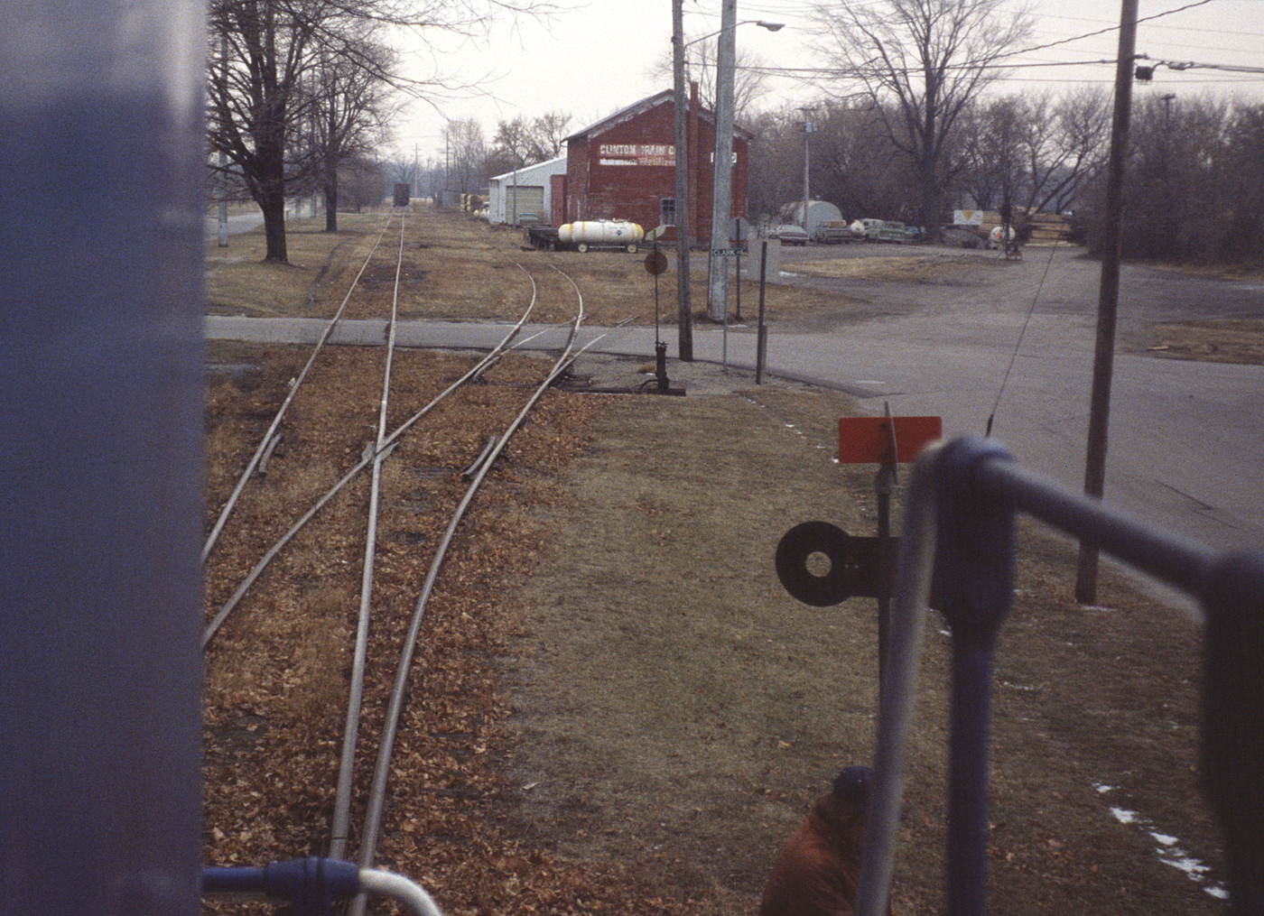 Running around some cars at Clinton, Michigan on 23 December 1980