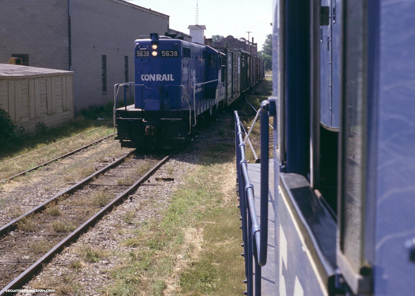 Conrail #5638 at Blissfield, MI on 26 June 1979