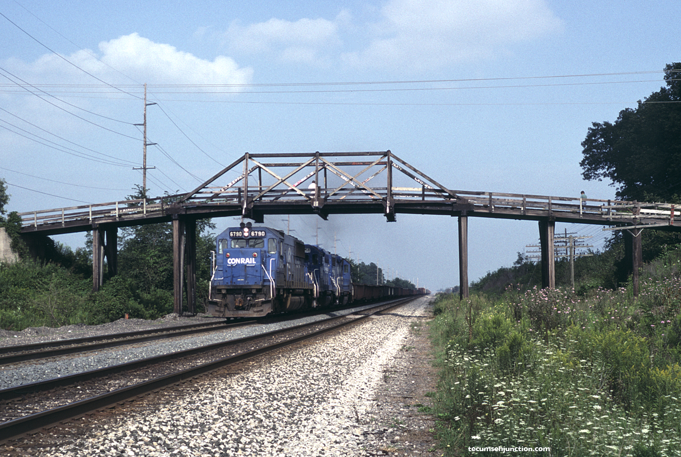Conrail BUEL-5 westbound at Edgerton, OH