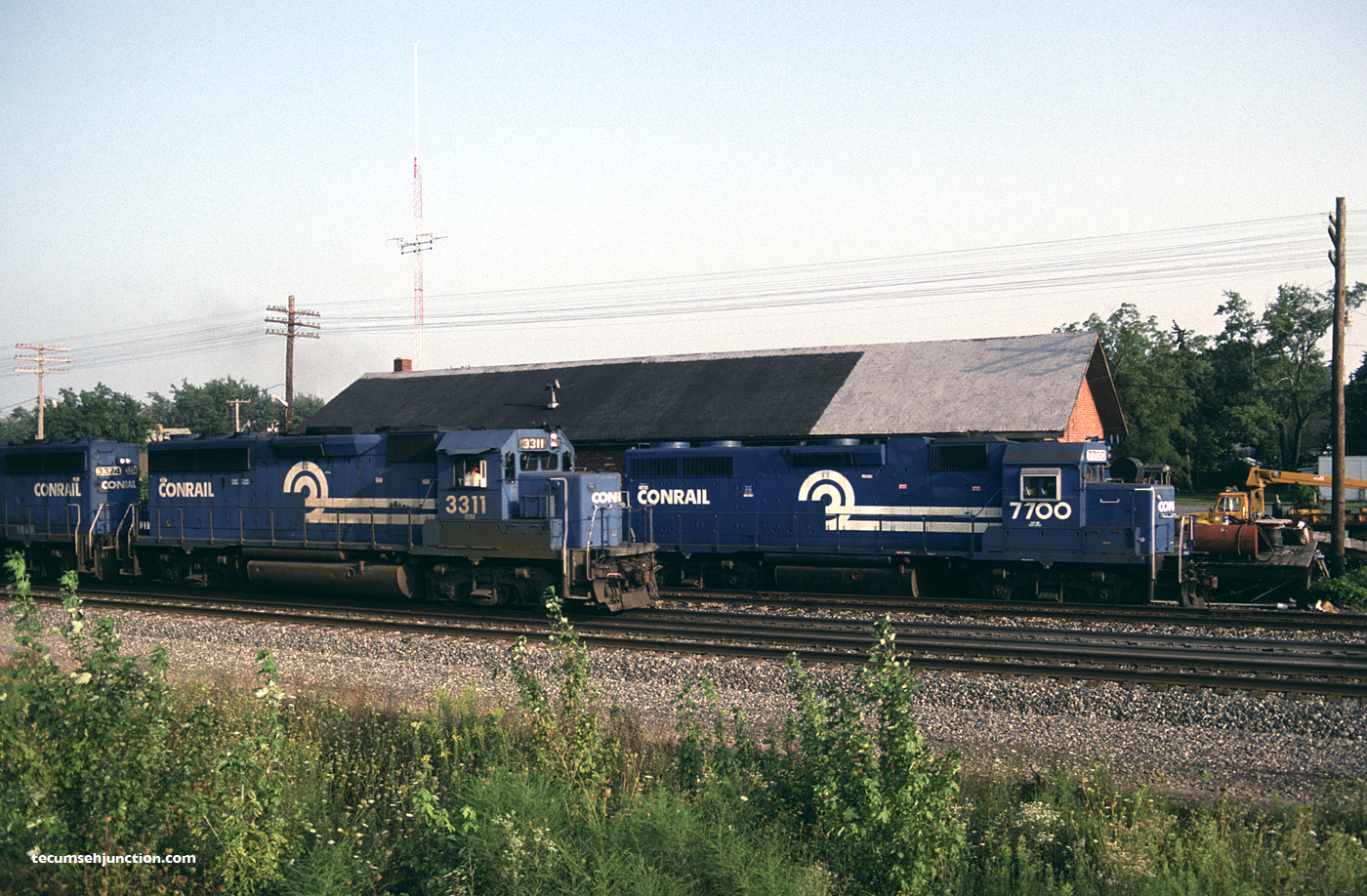 Conrail #3311 on TV-1 at Bryan, OH