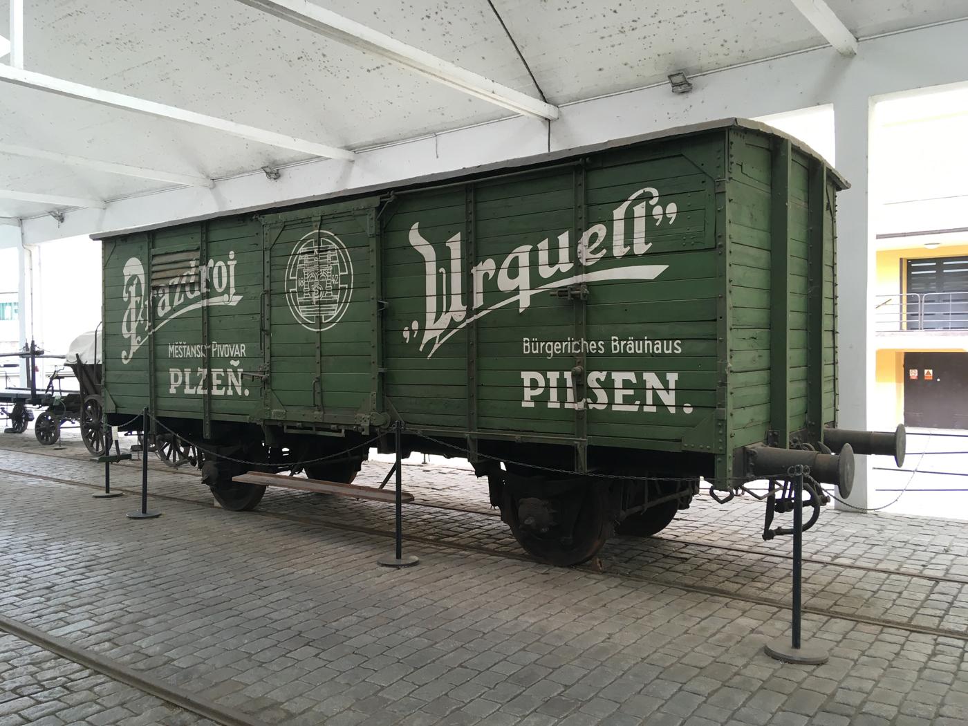 Pilsner Urquell beer wagon