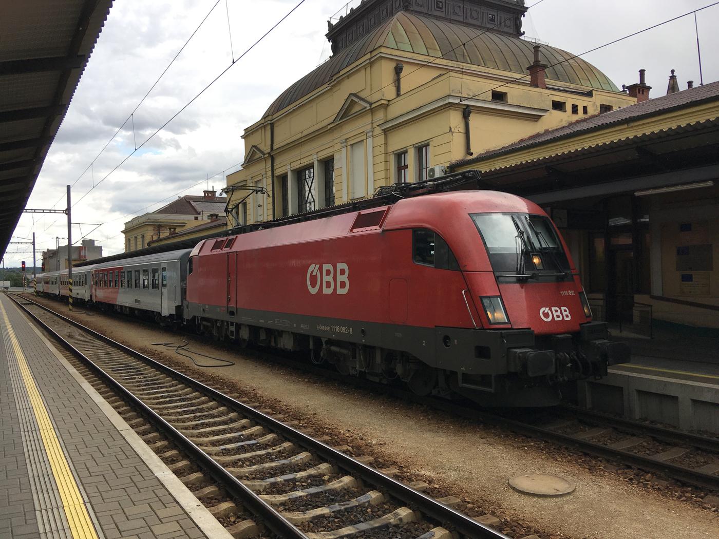 ÖBB train at České Budějovice