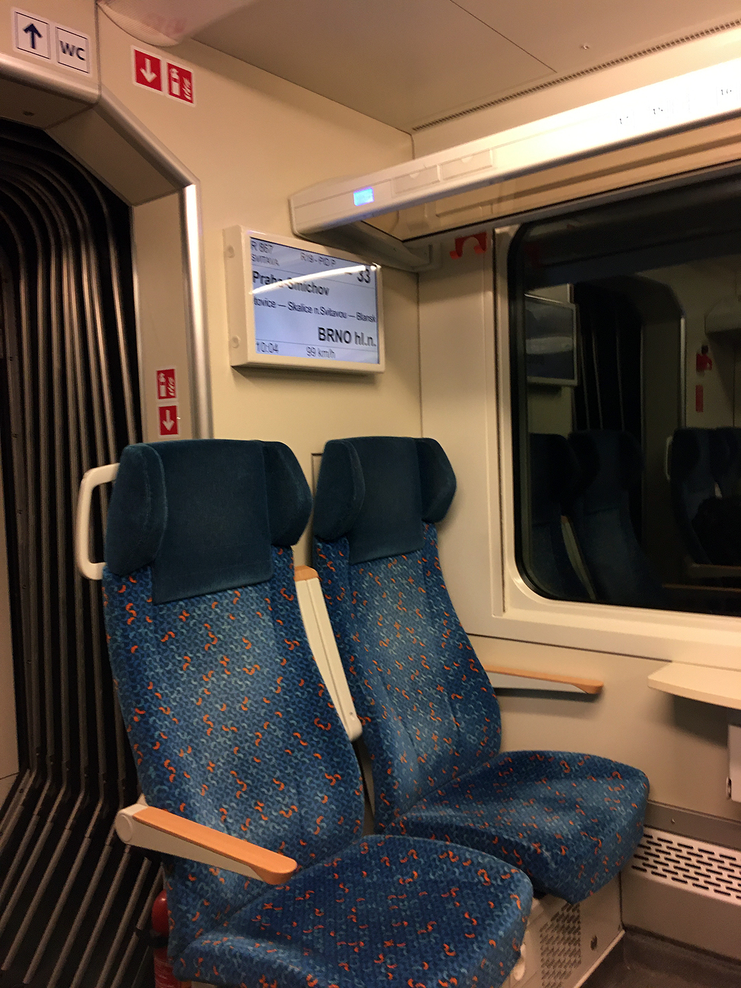"Interior seating on a class 660 ""InterPanter"" EMU"