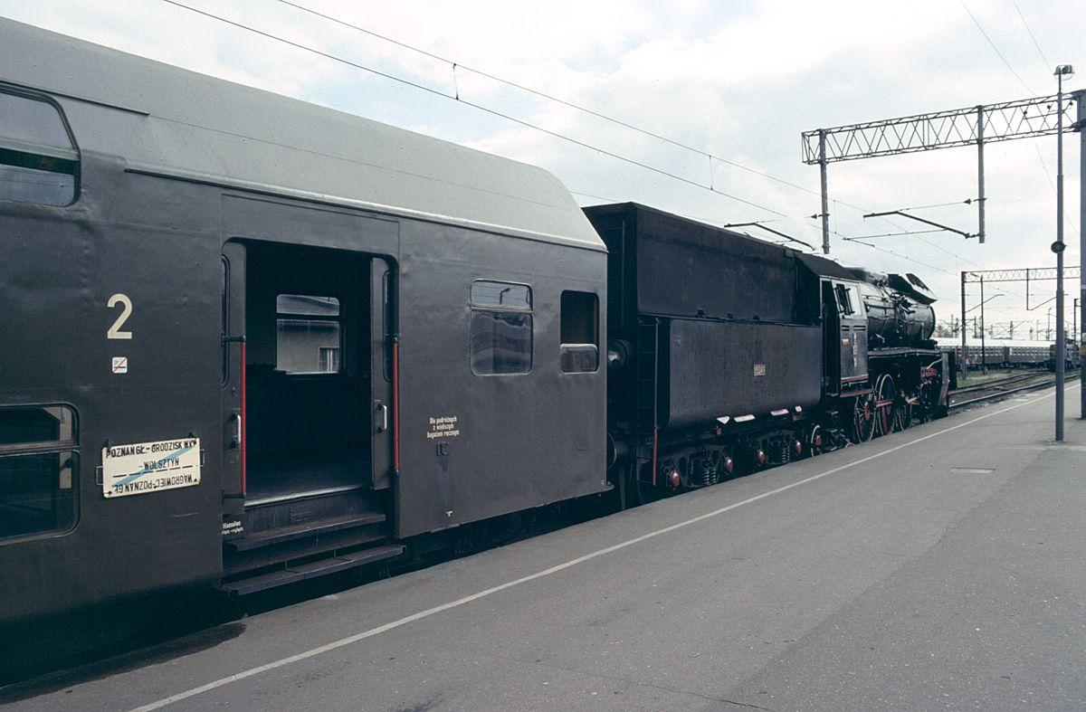 Ol49-32 on train to Wolsztyn