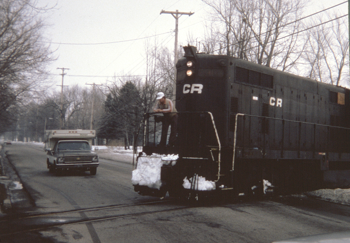 The last train to Clinton at Brown Street.