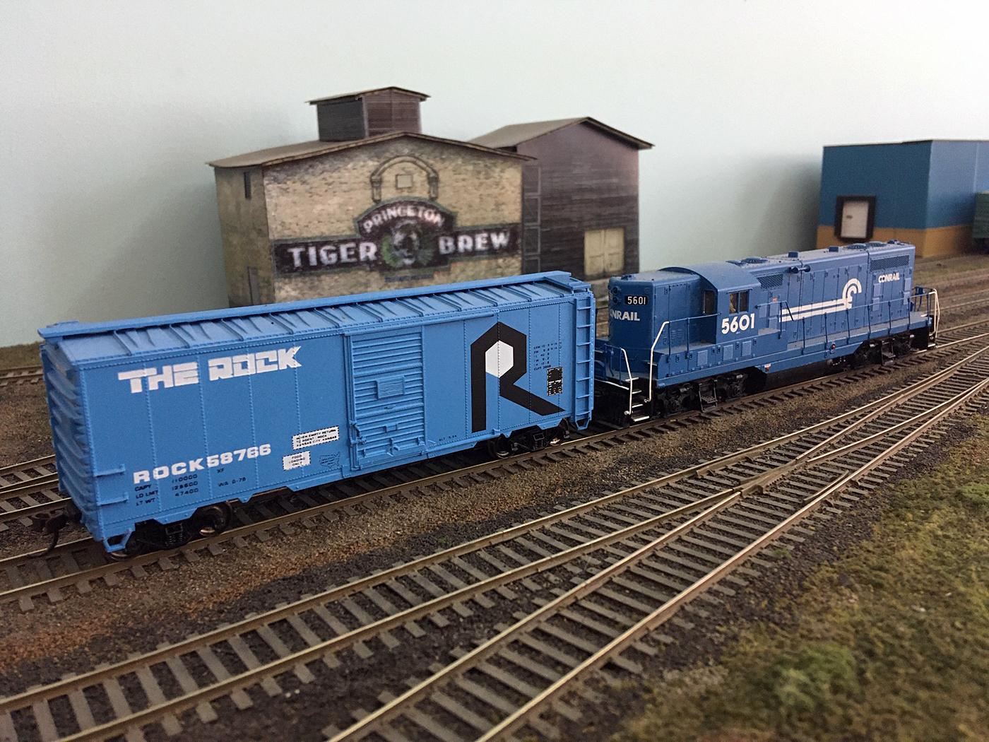 Model Rock Island boxcar