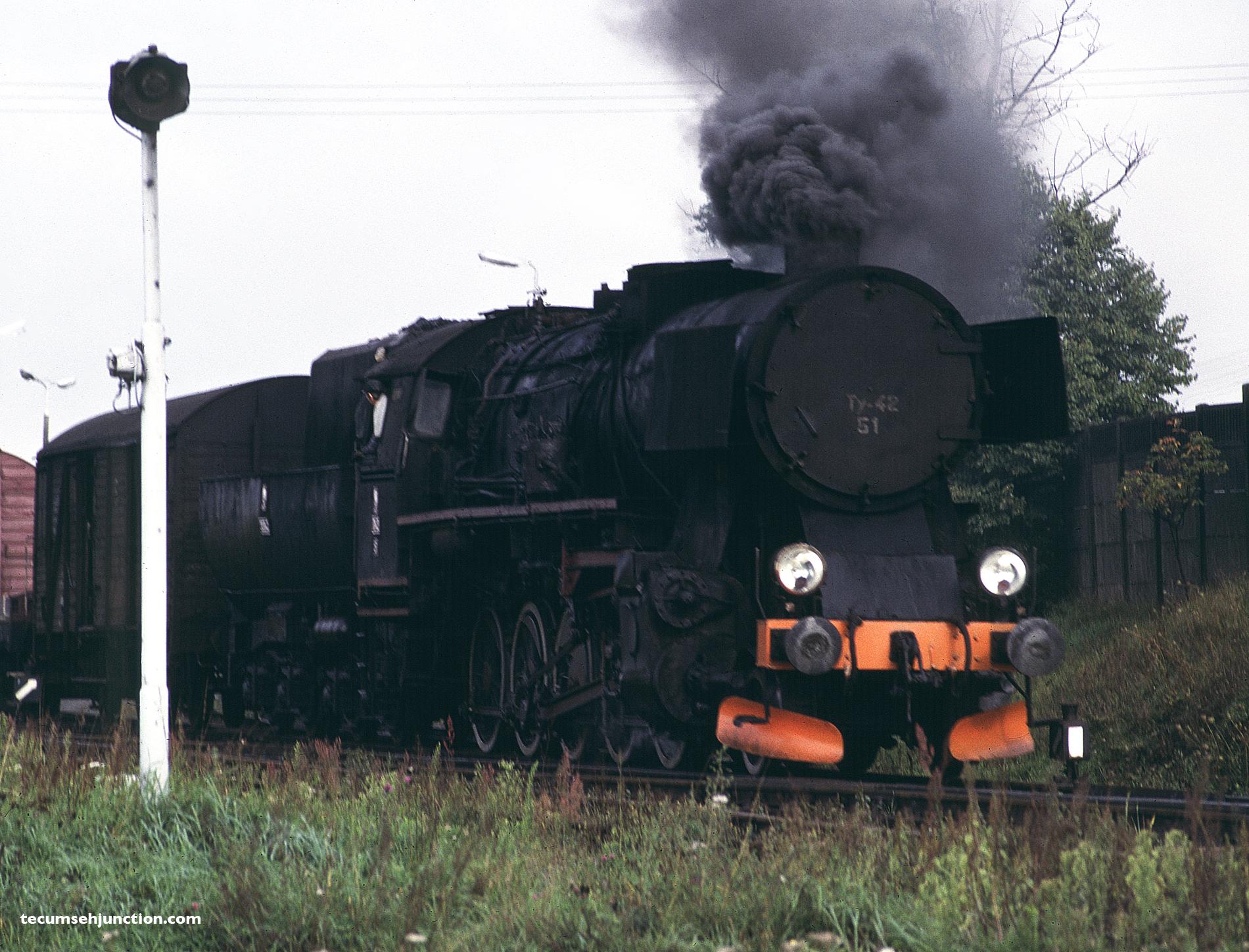 PKP Ty42-51 switches the yard at Kościerzyna