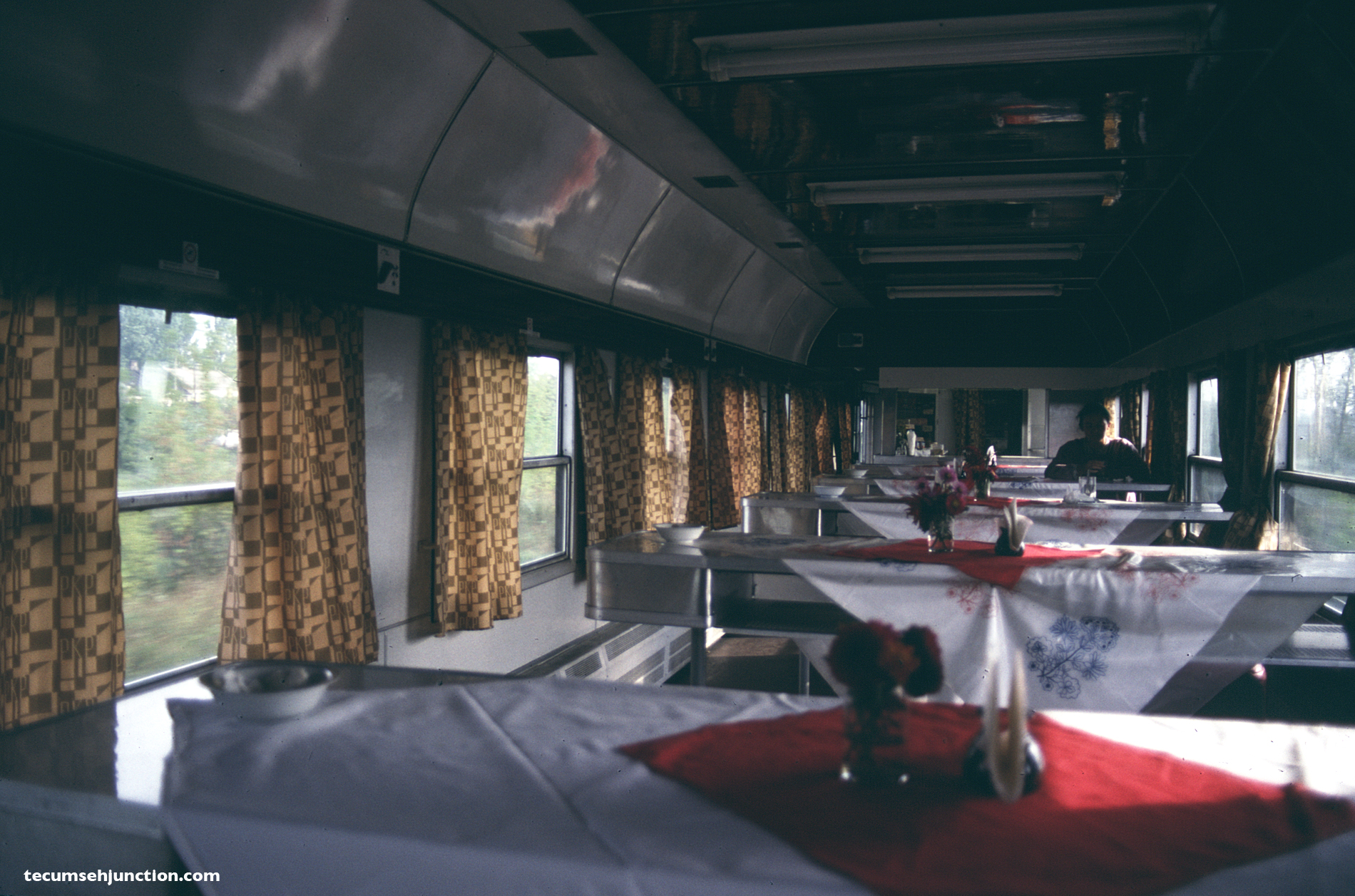 "Interior of ""Wars"" buffet car"