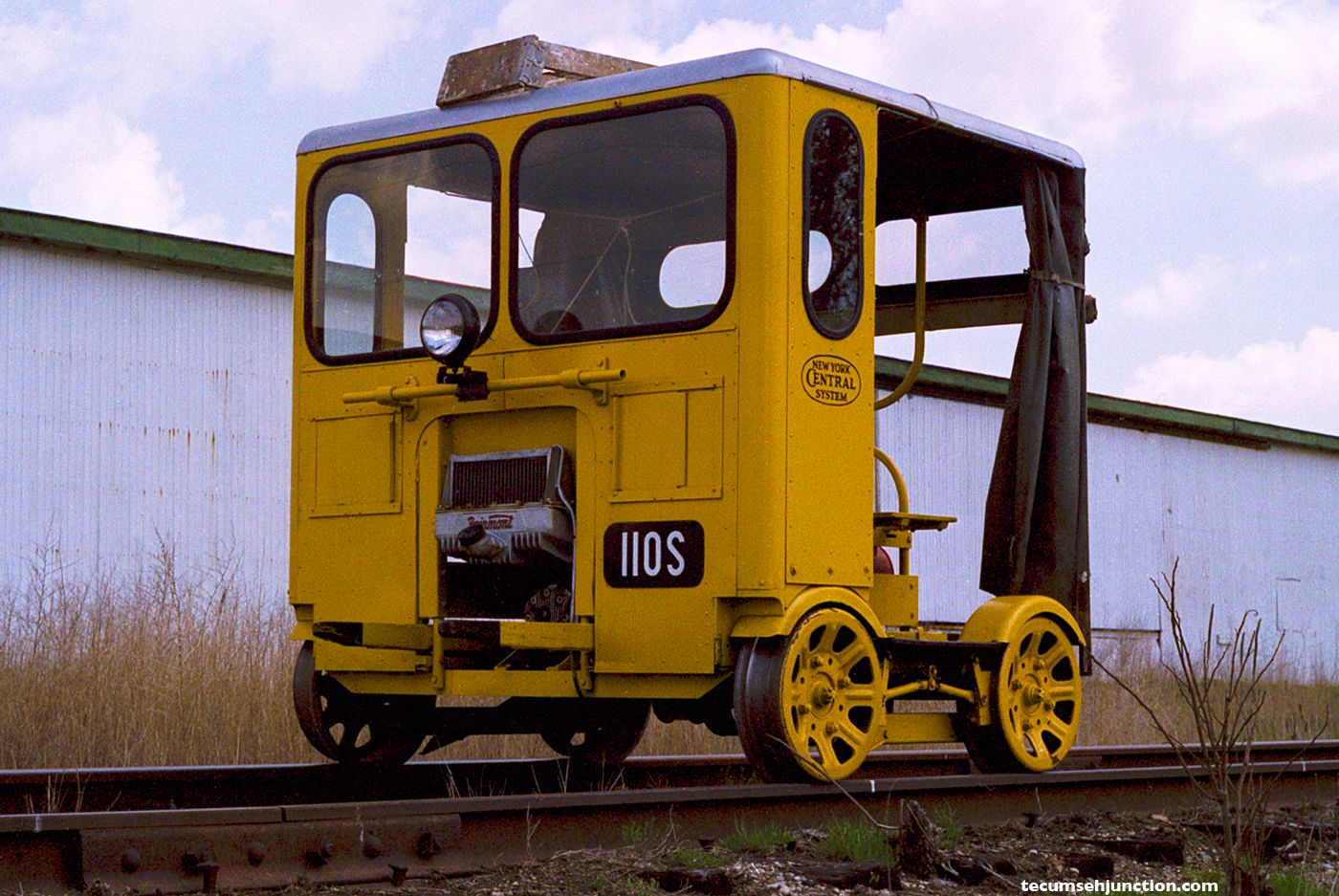 Motor car 110S on the Southern Michigan Railroad