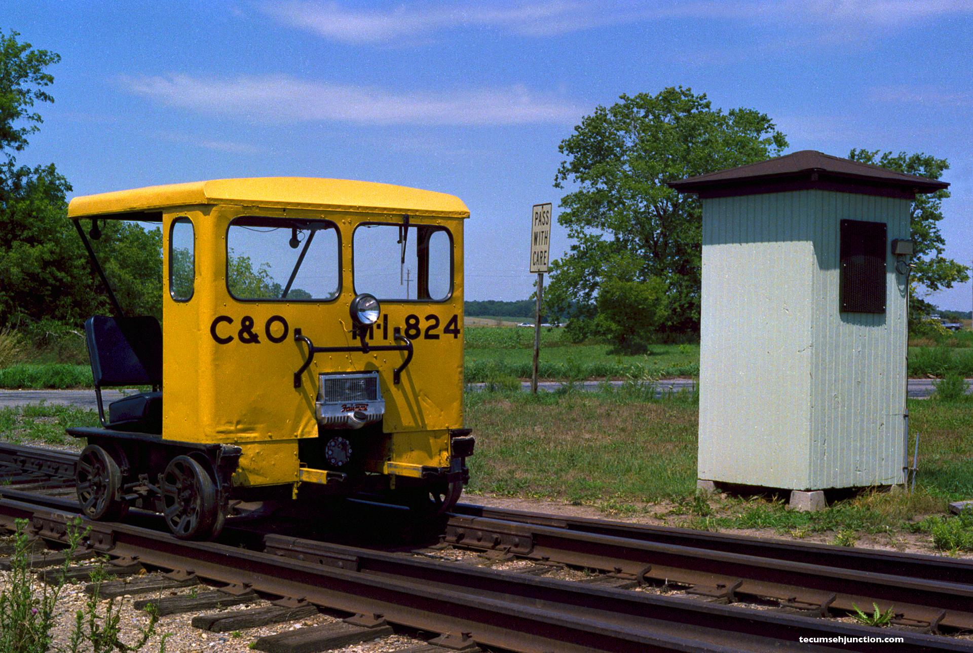 C&O motor car at Staib