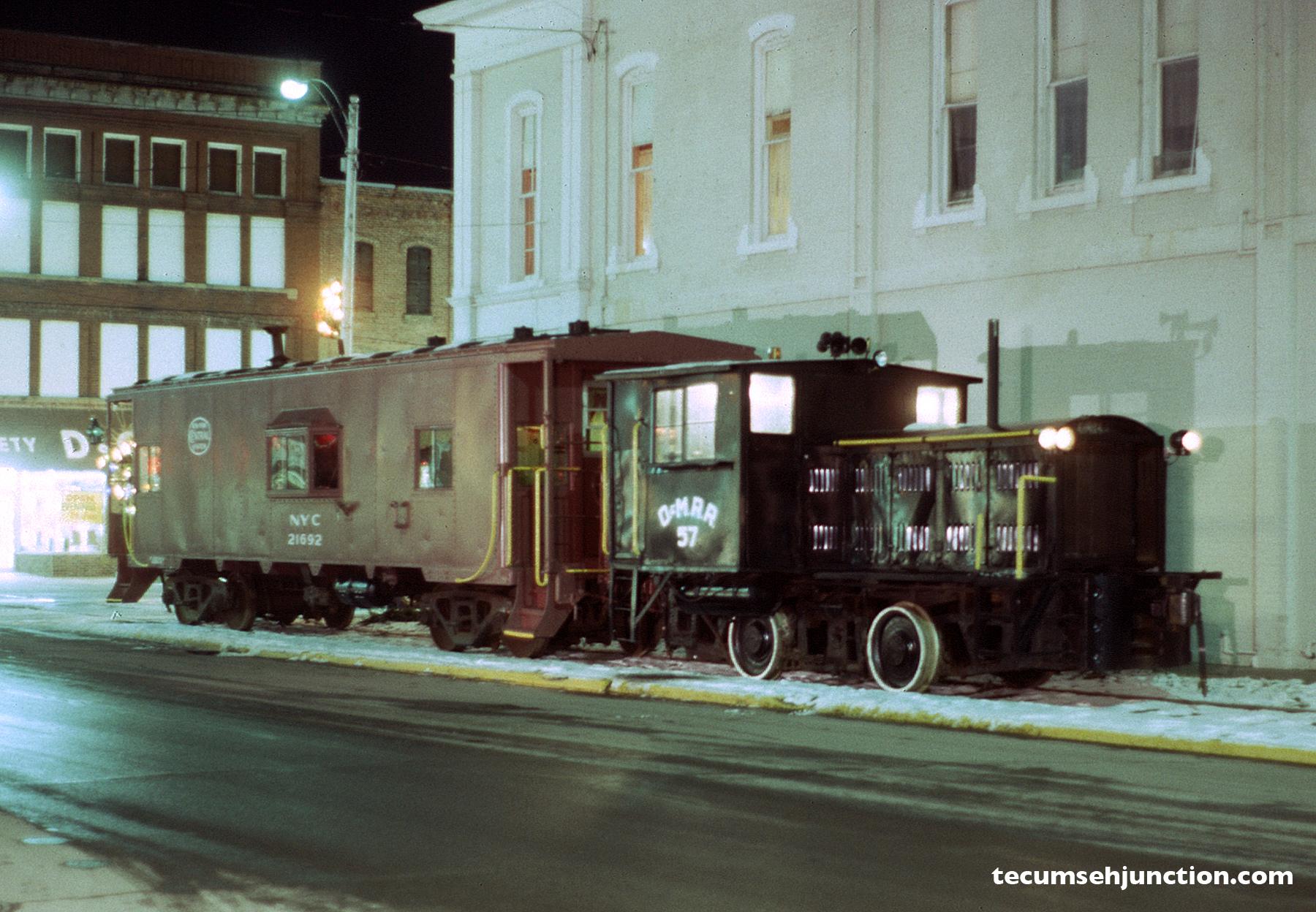 SMRS Christmas train in Tecumseh, Michigan on 05 December 1987