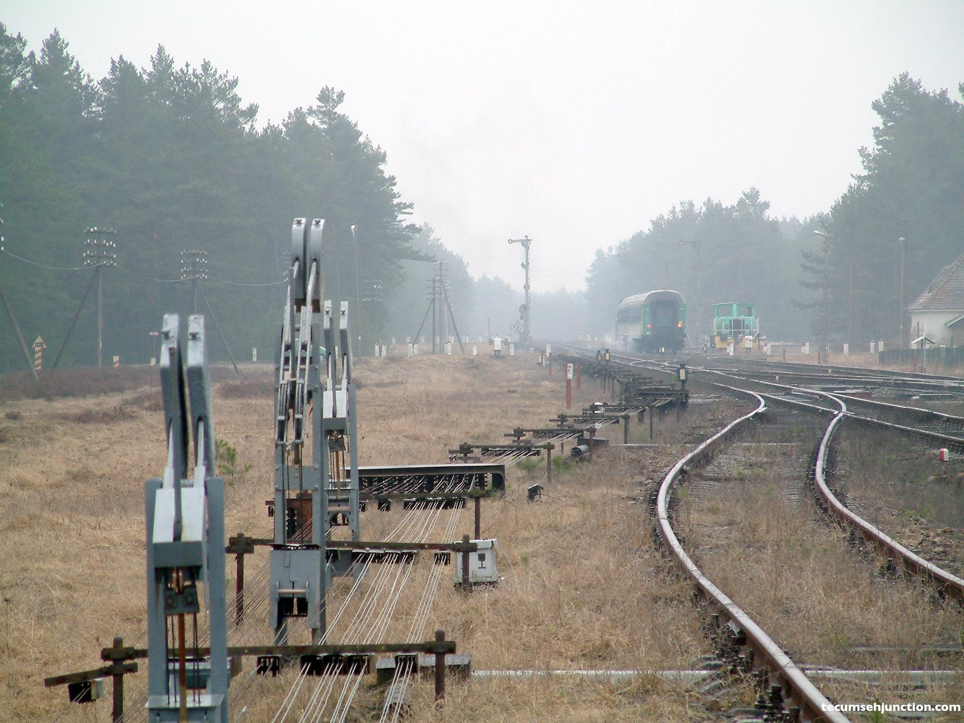 Train departing Bąk