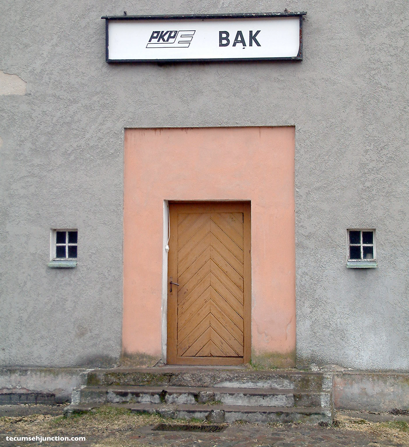 Back entrance to the station