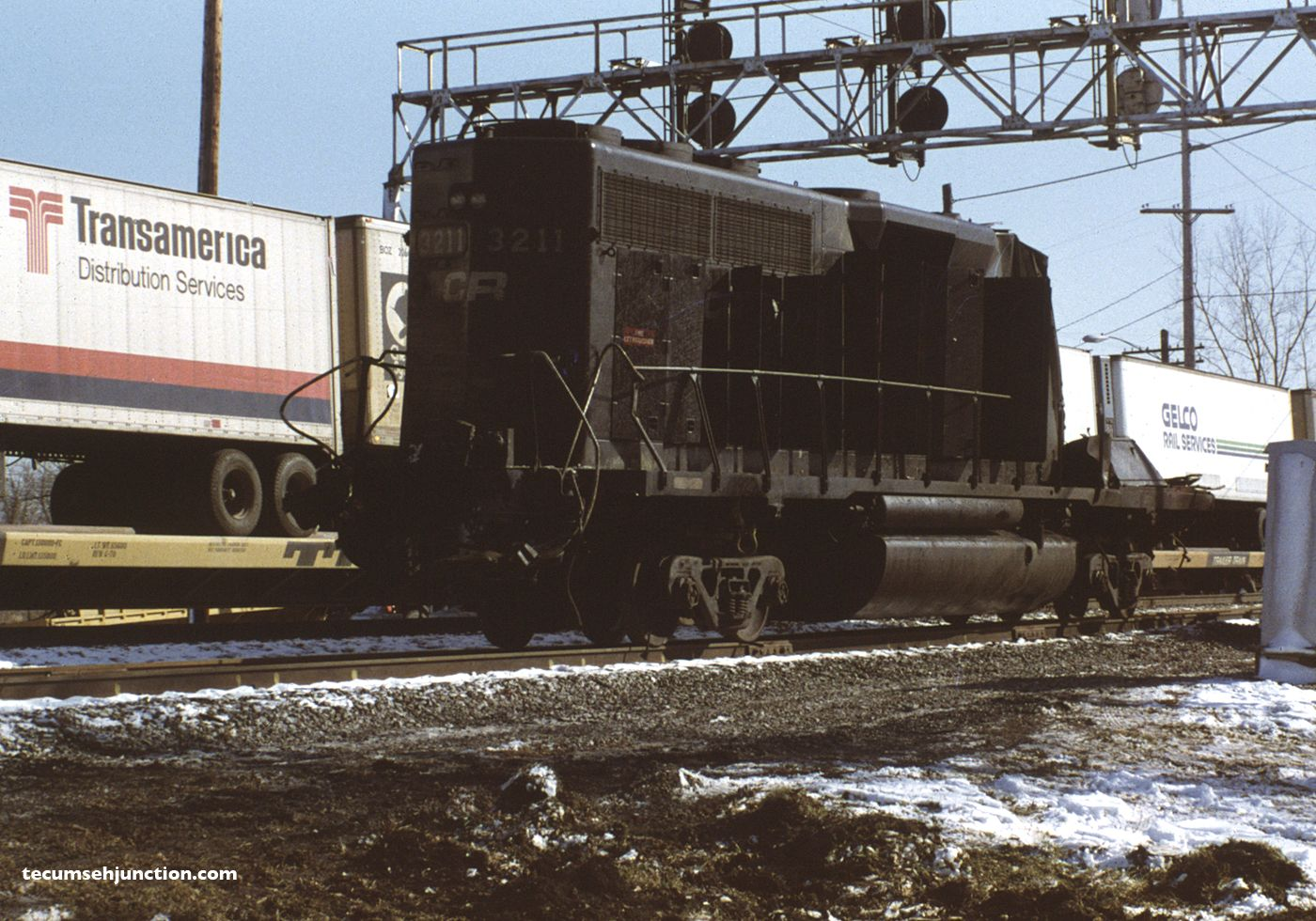 The remains of Conrail #3211