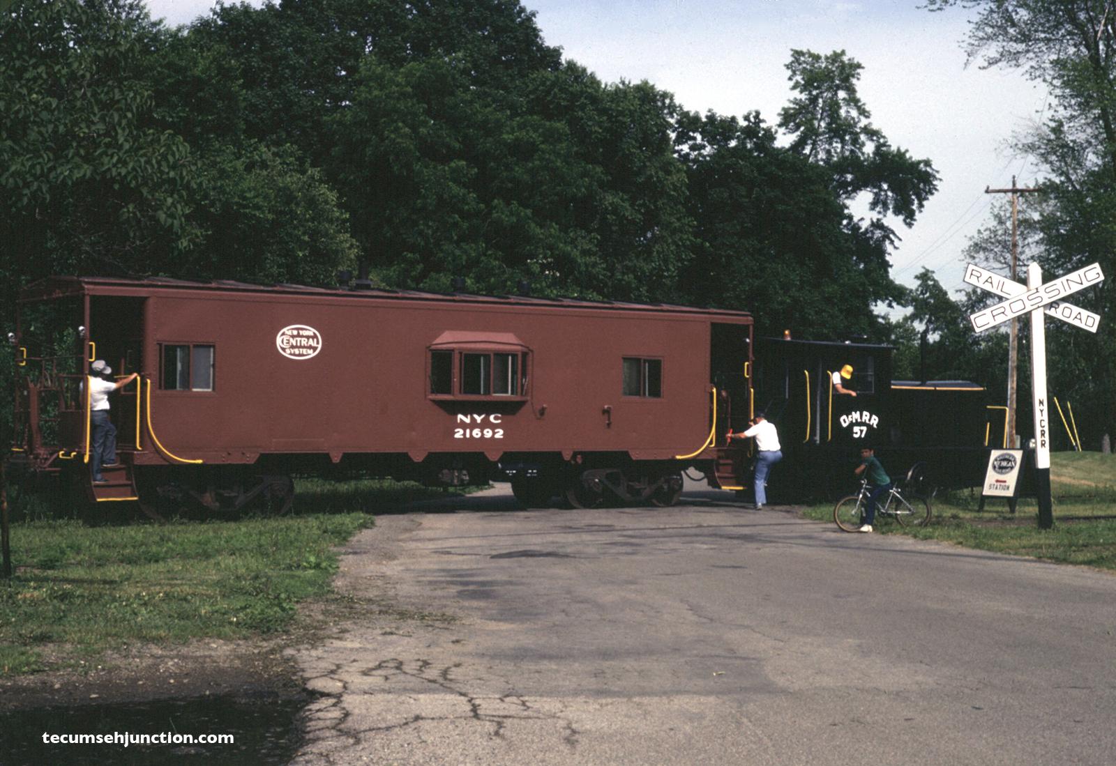 SMRS train at Bidwell Street, Tecumseh MI